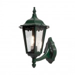 Konstsmide 7213-600 Firenze Aussen-Wandleuchte Grün klares Glas