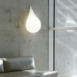 next Drop_3 Wandleuchte / H: 47 cm / Liquid-Light / Weiss / Wandlampe