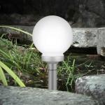 Force LED Solar Gartenkugel Ø 15cm Solarlampe Solarleuchte Gartenlampe