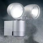 Pedroso LED 2er-Wandstrahler mit Sensor IP44 / 480 Lumen Garten Aussenstrahler