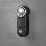 Konstsmide 7696-750 Prato Batterie LED Wandaufbauleuchte mit Bewegungsmelder schwenkbar 12V Schwarz