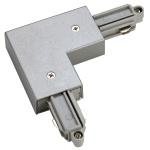 SLV 143062 Eckverbinder für 1-Phasen HV-Stromschiene Aufbauversion silbergrau Erde Innen