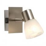 Globo 54530-1 Parry / Spot Nickel-Matt / Glas alabasteroptik / Schalter