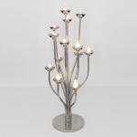 Holländer 291 3521 Windlicht 13-flg. Doccione Aluminium-Glas Silber-Klar