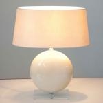 Holländer 039 K 1261 OV Tischleuchte Billiardo Keramik-Plexiglas Creme-Klar