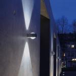 Lutec Crystal Design LED-Außenwandleuchte IP44 Edelstahl