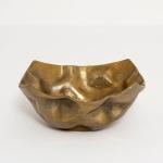 Holländer 207 3564 Dekoschale Rustica Mittel Aluminium Gold