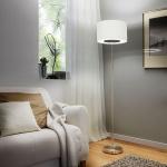 Eglo 95335 Romao 1 LED Stehleuchte mit Touch-Schalter 2210lm Nickel-Matt Creme