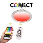 Connect LED-Einbaupanel Ø17cm Alu-Matt / 1200 Lumen / RGB+CCT / LED Einbauspot