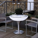 Moree Lounge Table Outdoor Tisch 75cm Dekolampe Aussen
