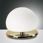 Fabas Luce 2513-31-138 Morgana LED Tischleuchte mit Glasschirm 350lm Chrom Weiß