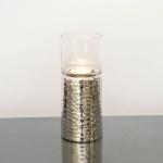 Holländer 208 3517 Windlicht Grazioso Klein Aluminium-Glas Silber-Klar
