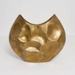 Holländer 207 3559 Dekovase Rustica Oval Gross Aluminium Gold