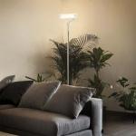 Ideal Lux 027289 Stehleuchte Stand Up mit Pirexglas 167cm / Chrom