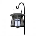 Konstsmide 7636-000 Assisi Solar LED Laterne mit Flackerlicht Schwarz klares Acrylglas
