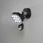 Konstsmide 7692-000 Prato LED Außenstrahler mit Bewegungsmelder / Schwarz