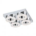 Eglo 95664 Fradelo LED Wand- & Deckenleuchte 1600lm Chrom Klar