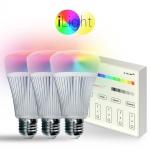 Starter-Set 3x E27 iLight LED + Touch-Panel RGB+CCT LED Leuchtmittel Lampe
