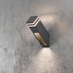 Konstsmide 7944-370 Massa LED Aussen-Wandleuchte Anthrazit klares Acrylglas