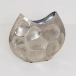 Holländer 207 3560 S Dekovase Rustica Oval Mittel Aluminium Silber