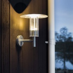 Konstsmide 700-320 Mode LED Aussen-Wandleuchte 700lm 3000K galvanisierter Stahl Polycarbonat Glas