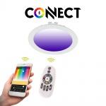 Connect LED-Einbaupanel Ø17cm Weiß 1200lm RGB+CCT LED Einbaustrahler