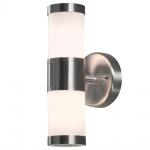 Konstsmide 7592-000 Modena Aussen-Wandleuchte mit doppeltem Lichtkegel Edelstahl opales Glas