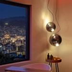 s.LUCE Sphere 30 rauchige Pendelleuchte Glaskugel Grau Pendellampe Glaslampe