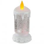 Globo 23304 Candlelight Glitterkerze klar und Weiss 7xLED