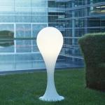 next Drop_4 Outdoor Stehleuchte H: 100cm Liquid-Light Weiss Dekolampe Aussen
