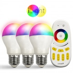 Starter-Set 3x E27 iLight LED + Fernbedienung RGBW LED Leuchtmittel Lampe