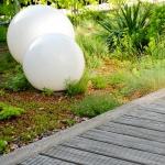 s.LUCE Globe / Garten Kugelleuchte / Ø 50 cm / Dekolampe Aussen