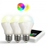 Starter-Set 3x E27 iLight LED + WiFi-Box CCT LED Leuchtmittel Lampe Dual-White