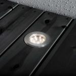 Konstsmide 7677-000 Mini LED Bodenspots 3-tlg. Erweiterungsset zu 7654 Edelstahl klares Glas