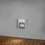 Konstsmide 7914-310 Chieri LED Wandaufbauleuchte eckig Grau klares Acrylglas