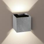 s.LUCE Ixa LED Wandleuchte mit zwei verstellbaren Winkel Blattmetall Silberfarben Wandlampe