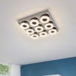 Eglo 95665 Fradelo LED Wand- & Deckenleuchte 3600lm Chrom Klar