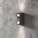 Konstsmide 7956-370 Potenza Aussen-Wandleuchte Anthrazit klares Acrylglas