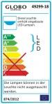 Froo I Deckenleuchte LED / rund / 1260 Lumen / Chrom, Glas Satiniert