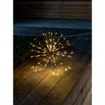 LED Stern Lichterball messingfarben 120 warmweisse Dioden 24V Außentrafo