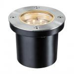 Paulmann Special EBL Set Boden rund LED 3x1, 2W 2700K 6VA 230/12V 98mm Edelstahl/Metall /