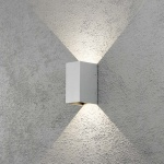 Konstsmide 7940-310 Cremona LED Aussen-Wandleuchte individuell verstellbarer Lichtaustritt Grau klares Acrylglas