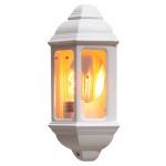 Konstsmide 7011-250 Cagliari Aussen-Wandleuchte / Weiß, klares Glas