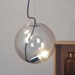 s.LUCE Sphere 30 Pendelleuchte Glaskugel Chrom Klar Glas Pendellampe Glaslampe