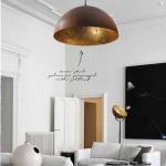 Licht-Trend Larino Pendelleuchte mit rustikaler Kette Ø100cm Rost-Blattgold