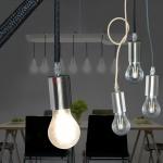 Licht-Trend Hangup / Aufhängung mit Textilkabel / schwarz / Pendellampe