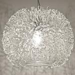 Terzani Sea Urchin / Hängeleuchte / Nickel, Silber, Swarovski / Hängelampe