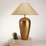 Holländer 039 K 1209 Tischleuchte Delta Sottile Keramik BlattverGoldet