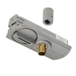 SLV 143124 1-Phasen Pendelleuchtenadapter silbergrau inkl. Zugentlastung und Gewindestück