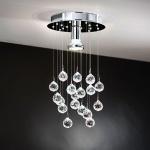 Eglo 95834 Luxy LED Designleuchte mit Kristallkugeln Chrom Klar